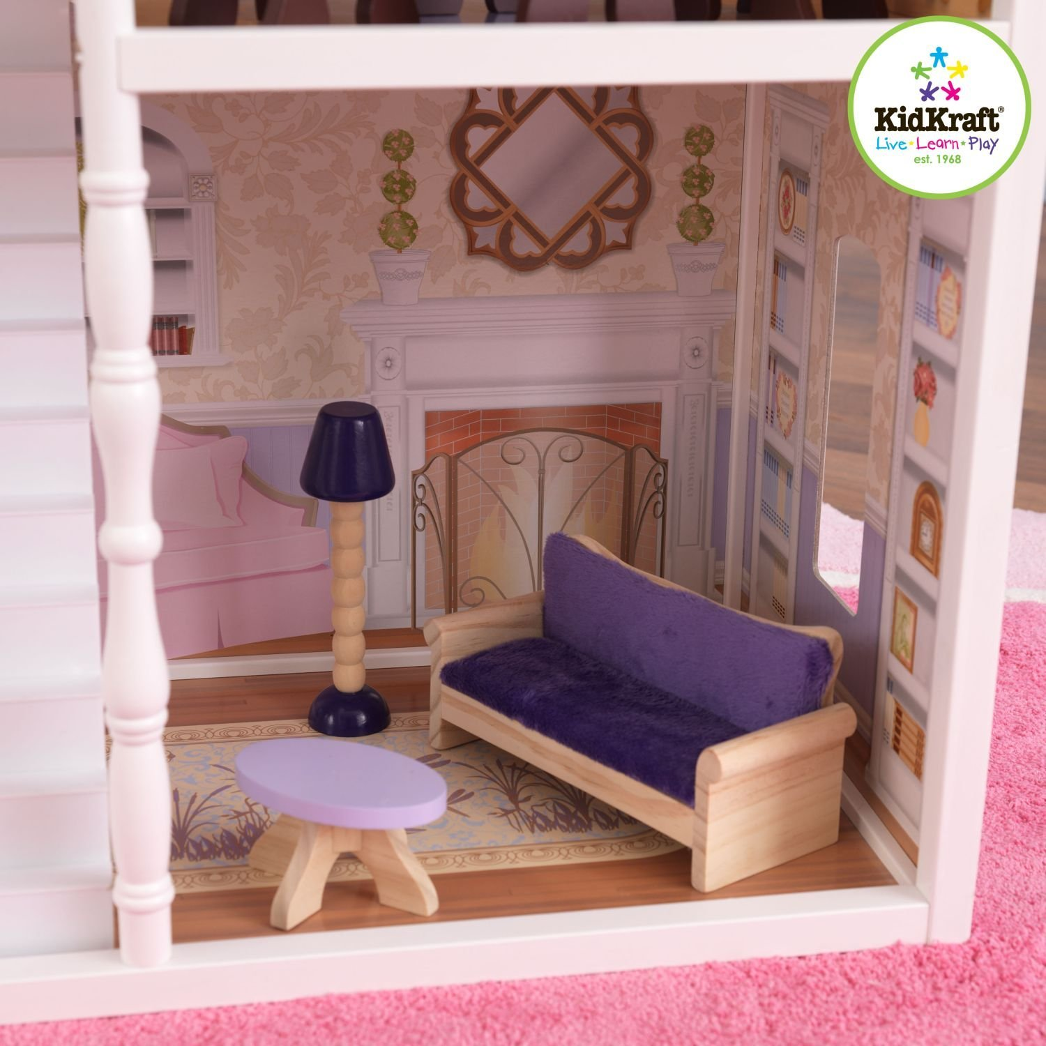 65023�KidKraft Savannah Wooden Play Dollhouse