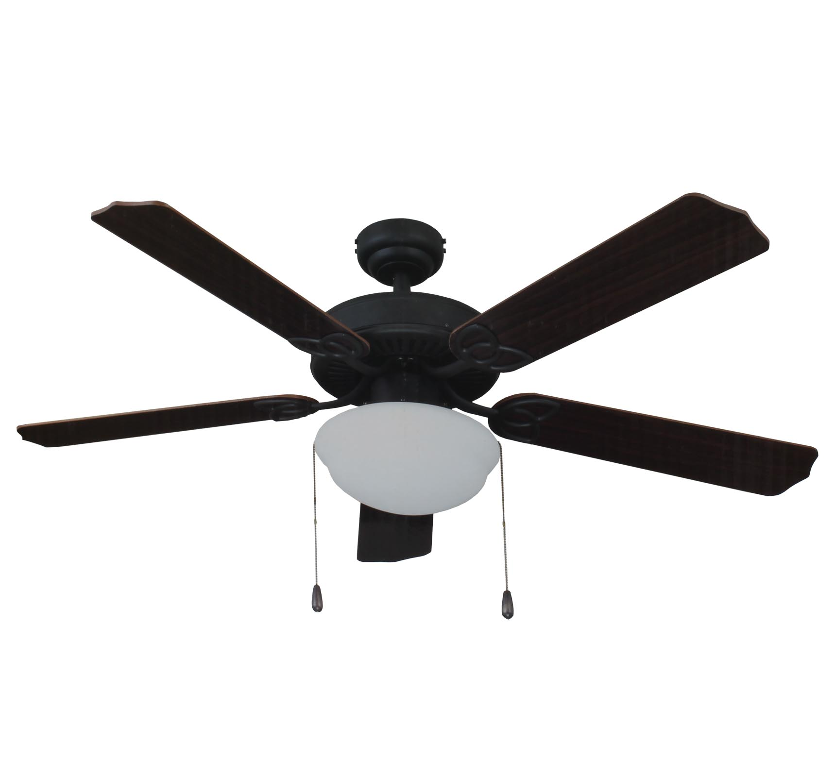 "Living Traditions 52"" Tri-Mount Ceiling Fan w/ Light 
