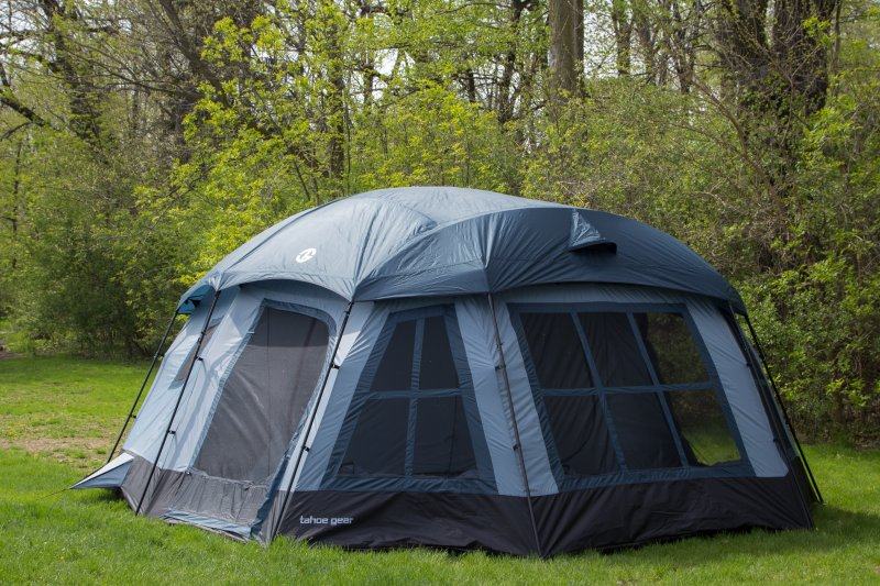 Tahoe Gear Ozark 16 Person 3-Season Large Family Cabin Tent