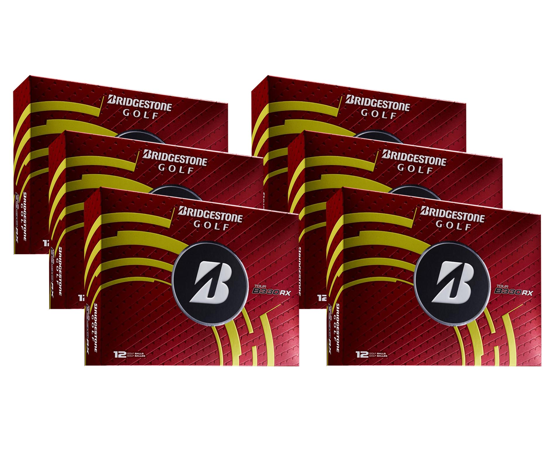 Bridgestone B330-RX White Tour Distance Golf Balls | 6 Dozen