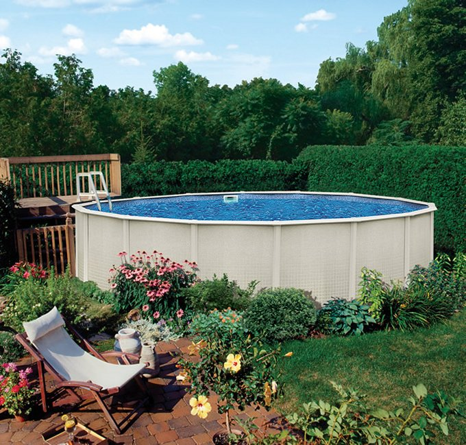 Sharkline Reprieve 24' x 52-Inch Round Above Ground Metal Frame Swimming Pool