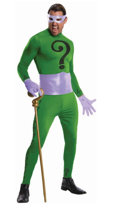 Batman Classic 1966 Series the Riddler Adult Costume - Large