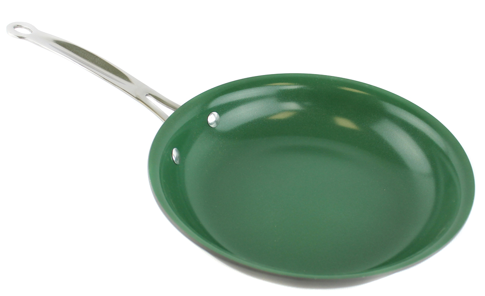 TEL6110�Orgreenic 10-Piece Hard Anodized Non Stick Kitchen Cookware - Green