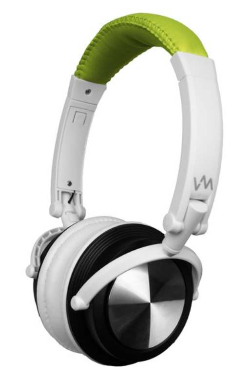 VM Audio Foldable DJ Headphones (Lime Green/White) | SRHP3