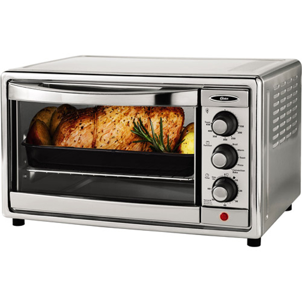 Oster 6-slice Brushed Stainless Steel Convection Toaster Oven | TSSTTVRB05-NP