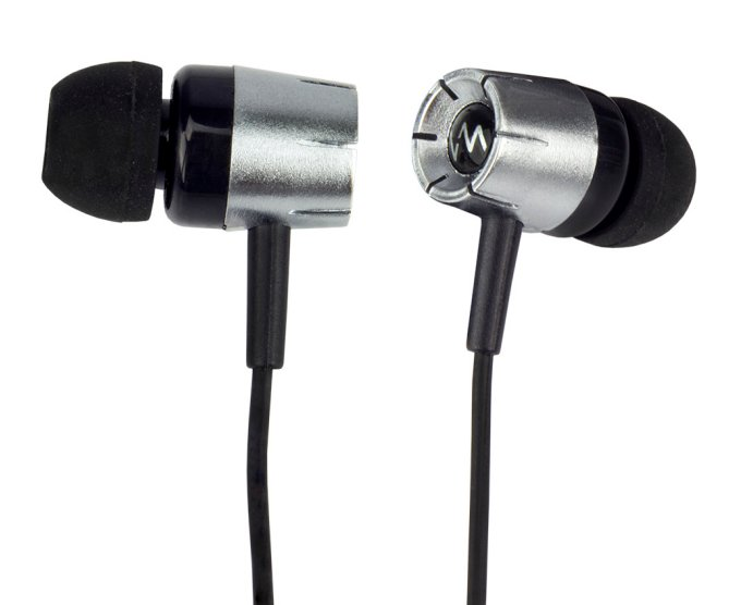 VM Audio Chrome Bass-Enhanced Earbuds (Black) | SREB5
