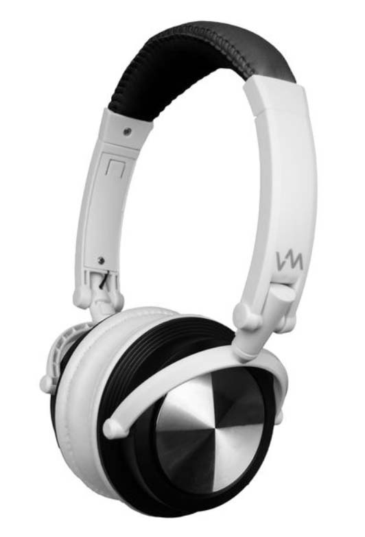 VM Audio Foldable DJ Headphones (Black/White) | SRHP3