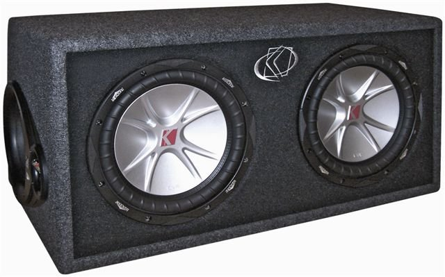 07DCVR122�Kicker DCVR12 COMP 1600W 12-Inch Subwoofers with Sub Box (Pair)