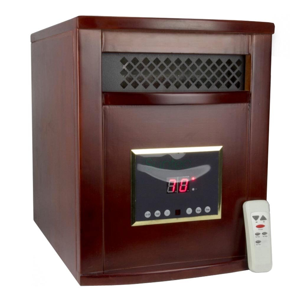 SUNTEC 1200 Sq Ft Portable Infrared Quartz Electric Space Heater | LRC2000 Cherry