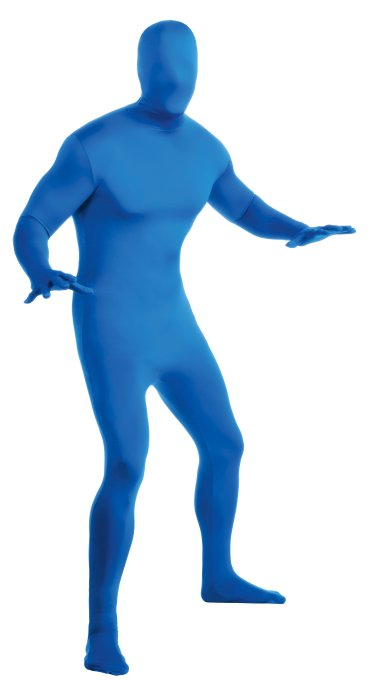 2nd Skin Full Body Jumpsuit Adult Costume - Blue | Large