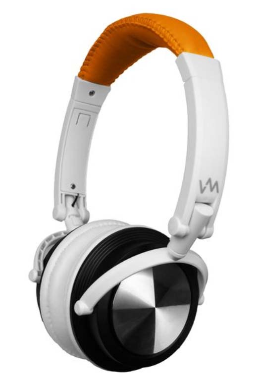 VM Audio Over-Ear DJ Headphones (Orange/White) | SRHP3
