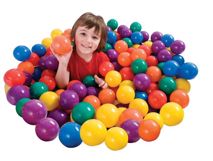 INTEX Small Plastic Multi-Colored Fun Ballz - 100 Pack