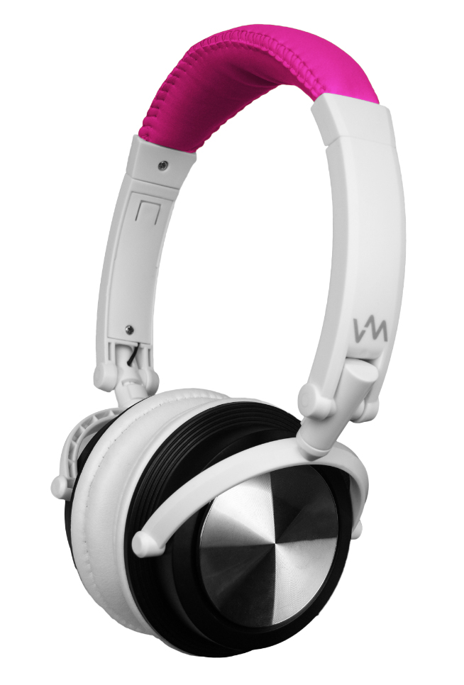 VM Audio Foldable DJ Headphones (Pink/White) | SRHP3