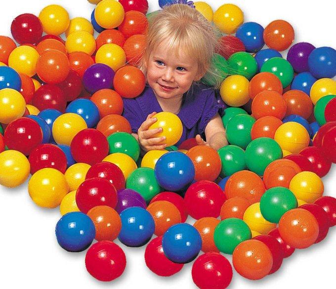 INTEX Plastic Fun Ballz - 100 Pack