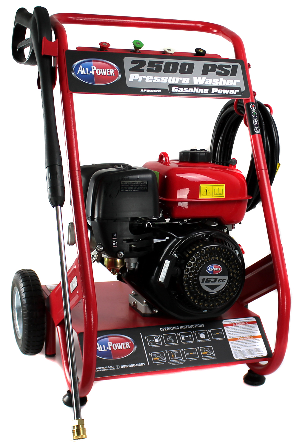 All-Power APW5120 2.5 Gpm 2500 Psi 4 Cycle Gas Powered Pressure Washer