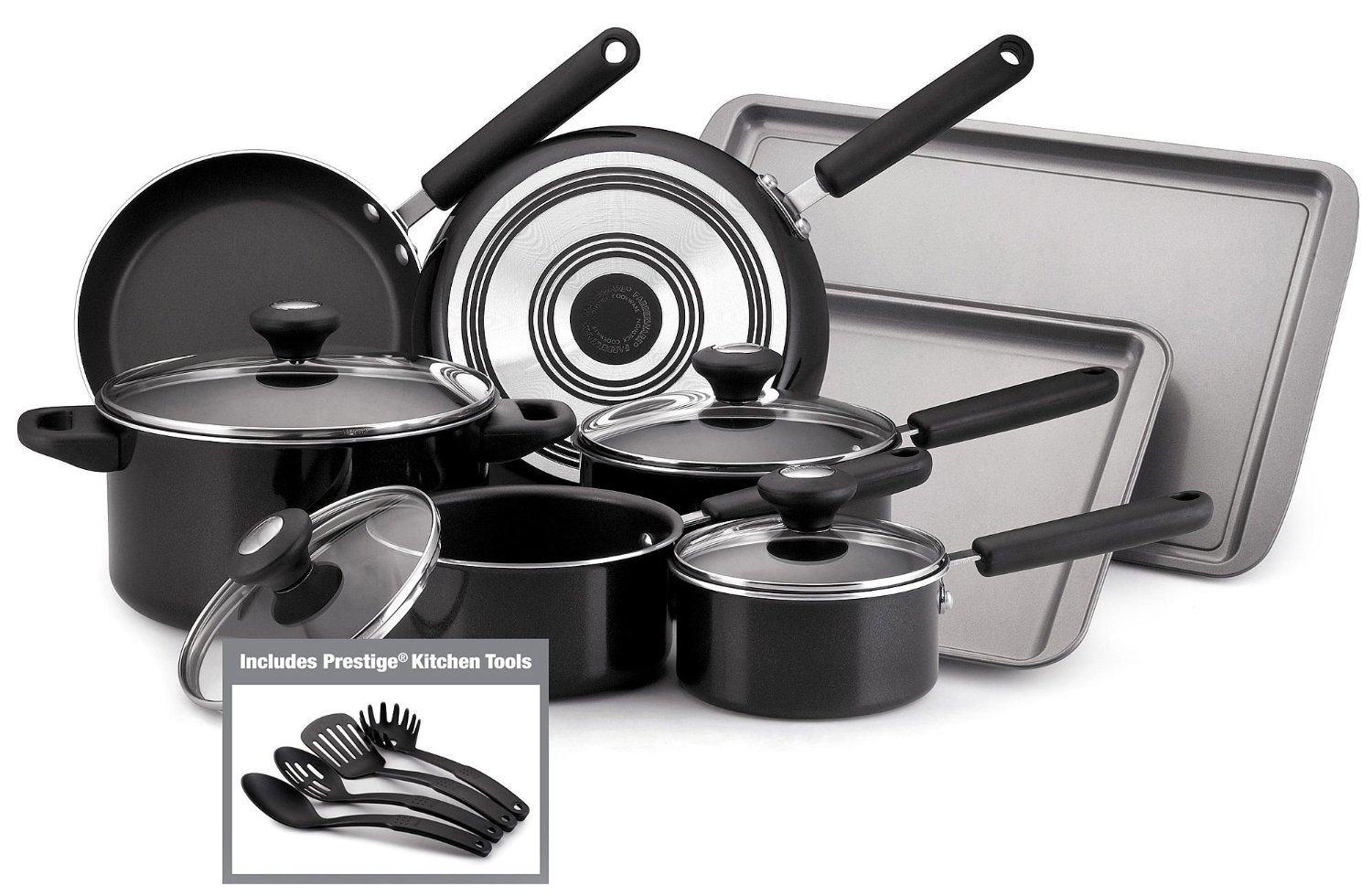 Farberware 12307 14 Piece Kitchen Nonstick Cookware Set