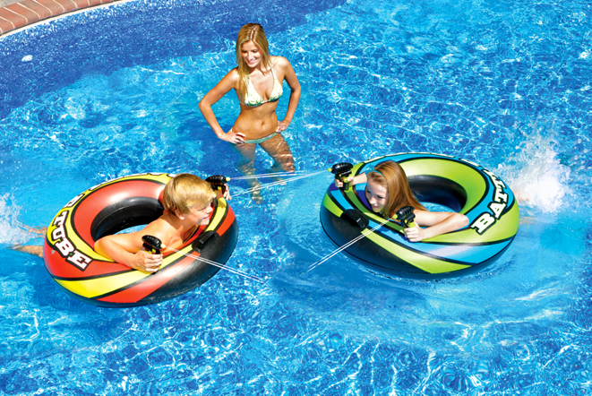 Swimline 90759 Inflatable Ride-On Power Blaster Set