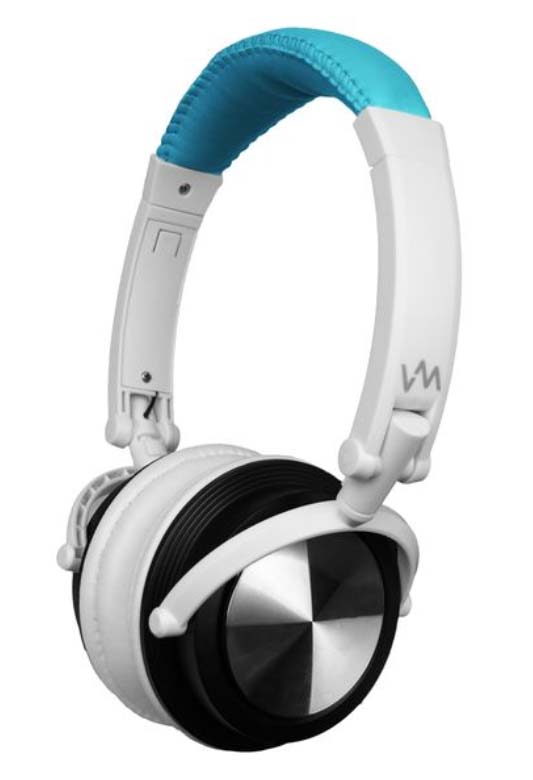 VM Audio Foldable DJ Headphones (Blue/White) | SRHP3