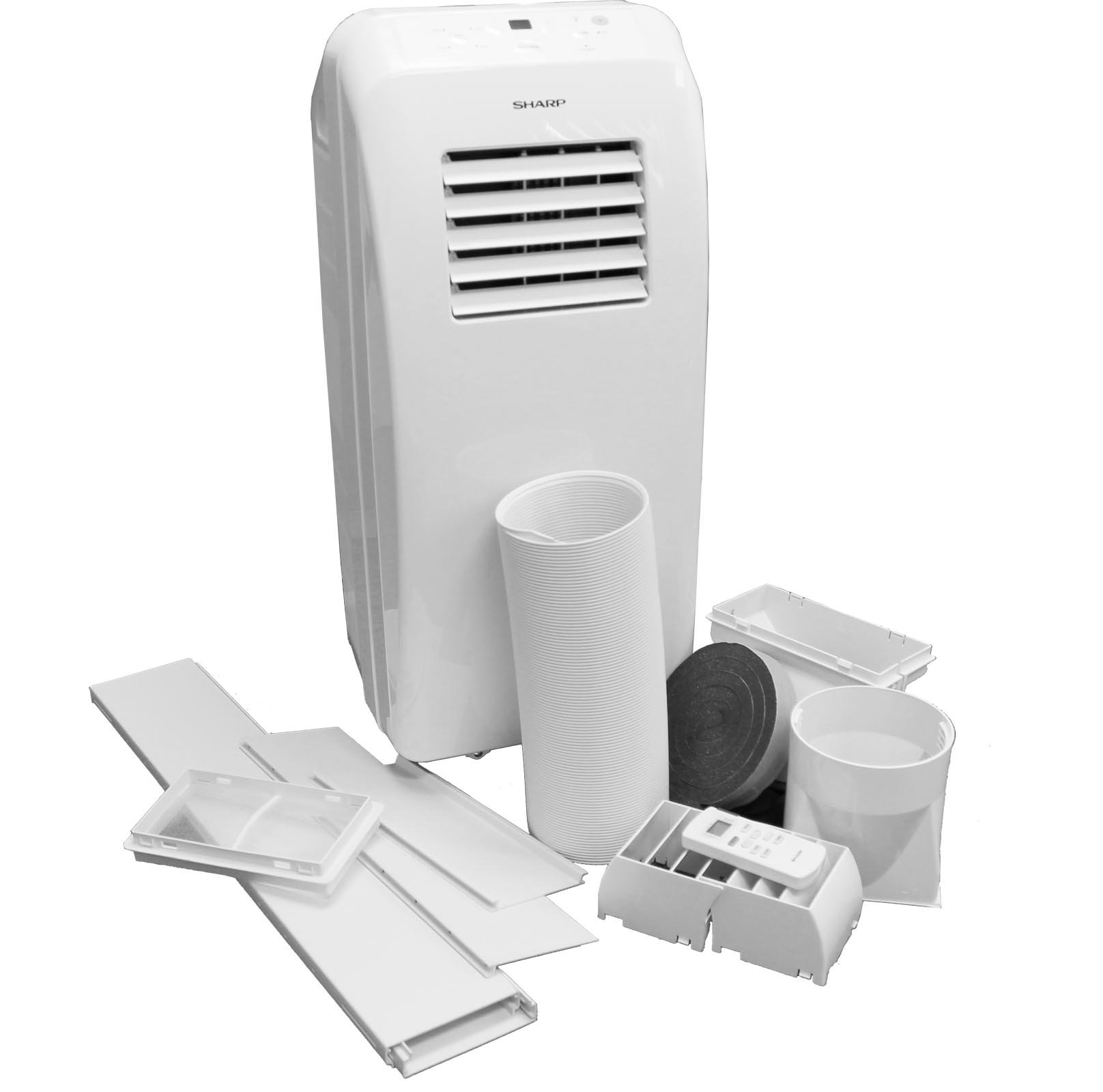 Sharp CV10CTX White Portable Electric Air Conditioner (Refurbished) | 10,000 BTU