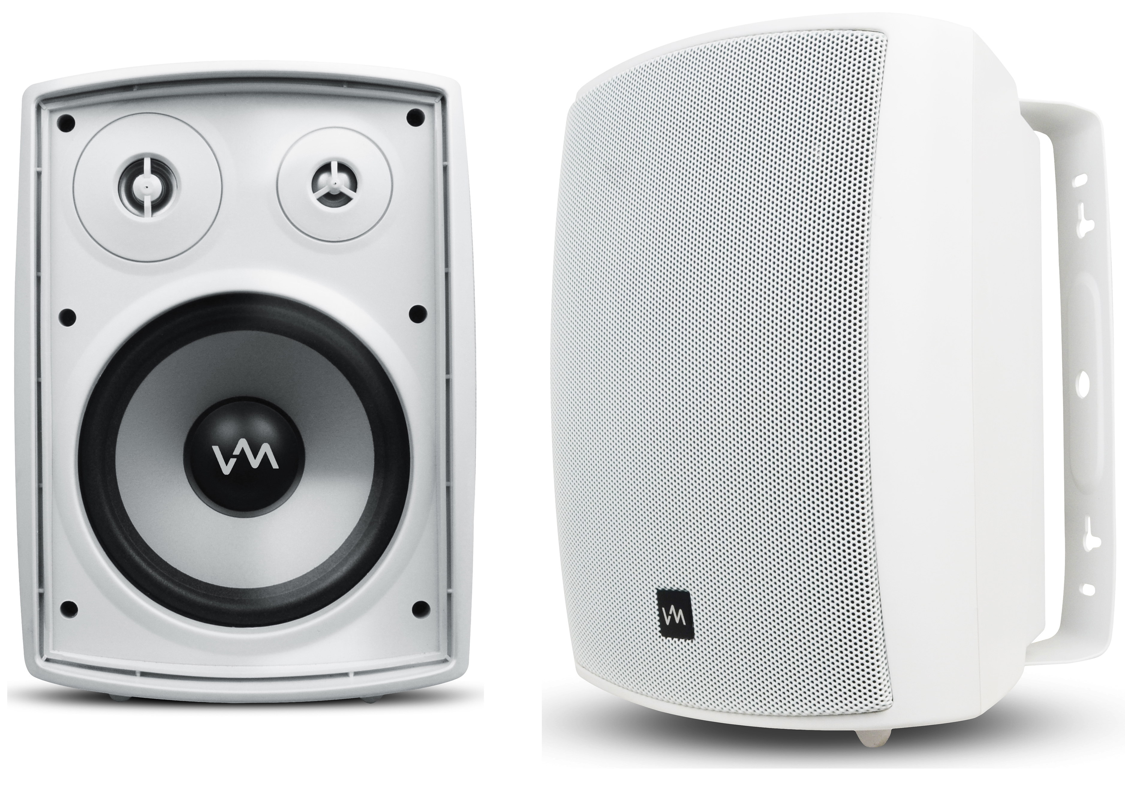 VM Audio SR-WOD6 White Pair Waterproof Indoor/Outdoor Patio Porch Speakers Set