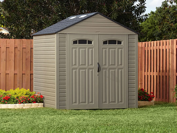 Rubbermaid Roughneck XL 7'x7' Outdoor Storage Shed | 5H80