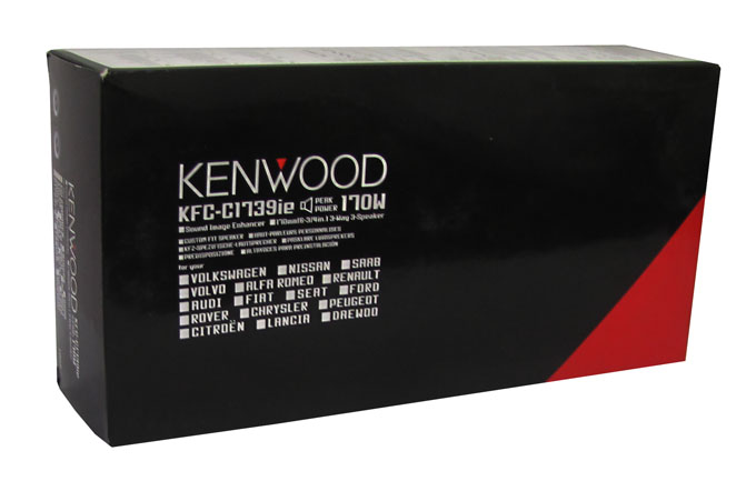 KFCC1739IE�Kenwood KFC-C1739IE 7-Inch 170 Watt 3-Way Custom Fit Car Audio Speakers (Pair)