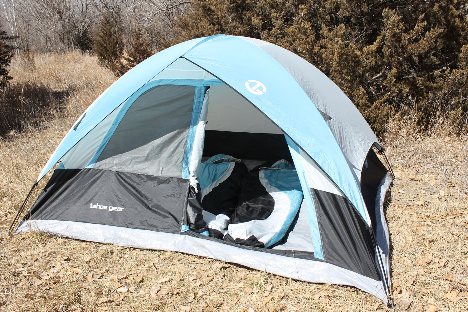 Tahoe Gear Granite 5-Person Family Tent Set & Two Island Peak Sleeping Bags