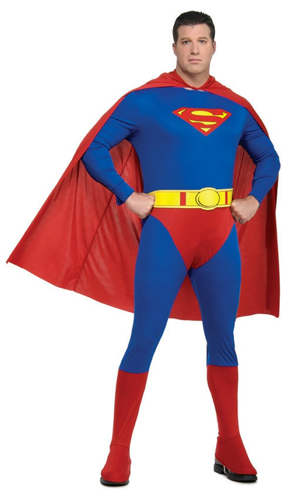 Superman Adult Mens Costume - Plus Size