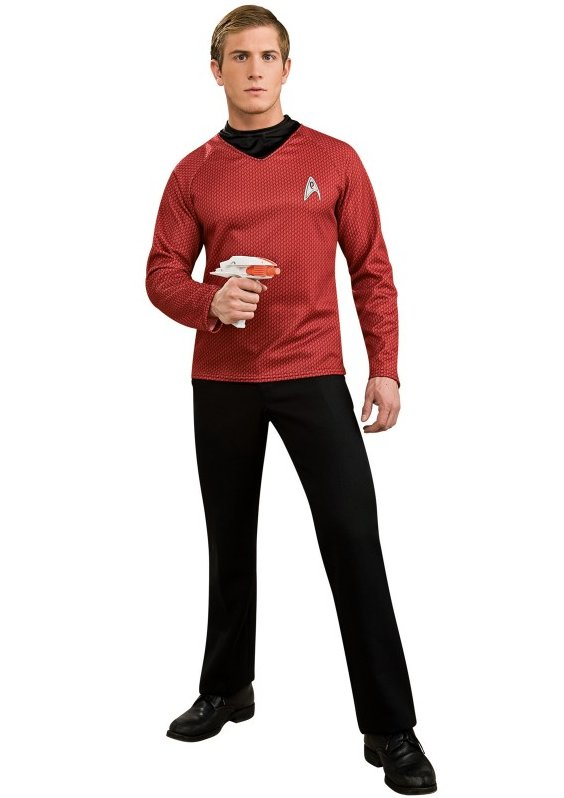 Star Trek Scotty Adult Red Shirt Costume | Small