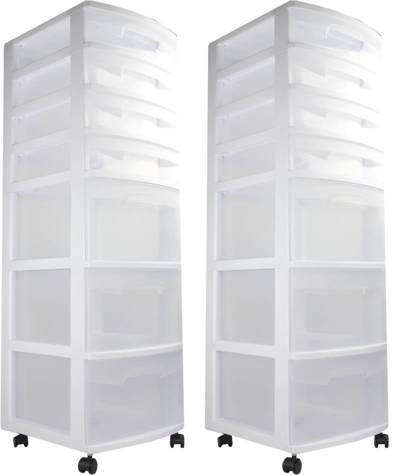 Sterilite 7-Drawer Storage Cart (2 pack) | 28348002