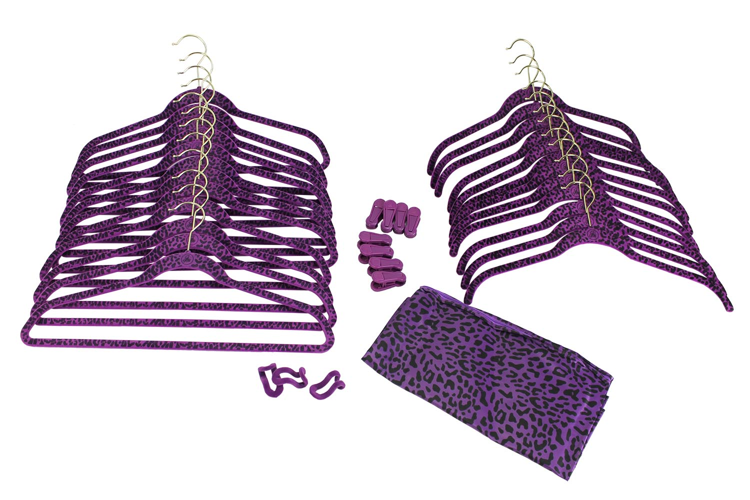 Joy Mangano (60) Piece Non-Slip Velvet Huggable Hangers & Accessories Set