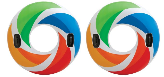 Intex Inflatable Color Whirl Tube Raft (Set of 2) | 58202EP