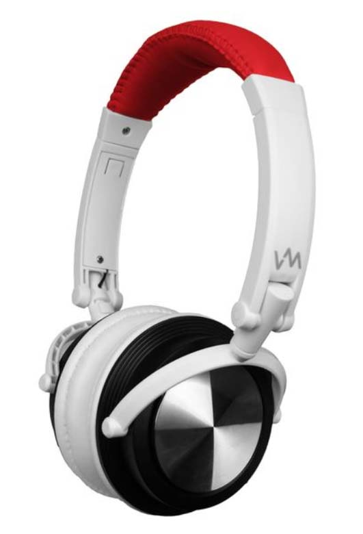VM Audio Foldable DJ Headphones (Red/White) | SRHP3
