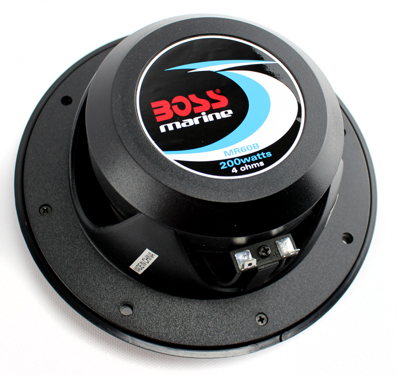 "MR60B�Boss 6.5"" 2-Way 200 Watt Marine Speakers - Black (Pair) 