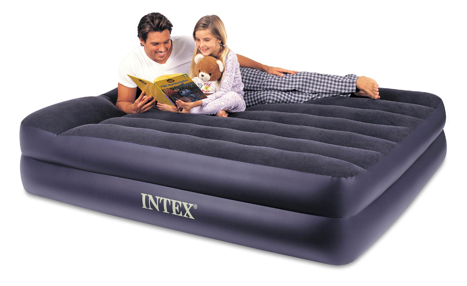 Intex Pillow Rest Queen Airbed with Built-In Pump | 67701E