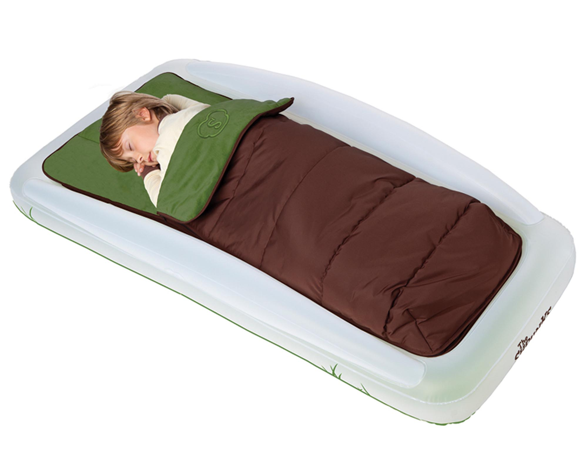 Shrunks Tuckaire Toddler Outdoor Travel Bed w/ Rails & Sleeping Bag