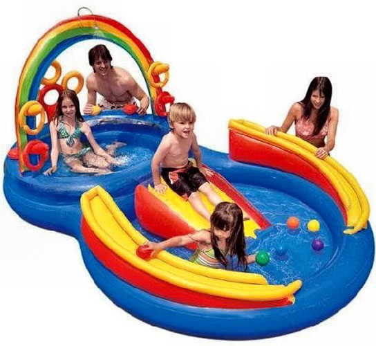 Intex Inflatable Rainbow Ring Play Center Pool | 57453EP