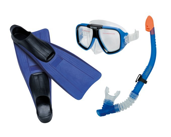 INTEX Reef Rider Kids Mask, Snorkel & Fin Set