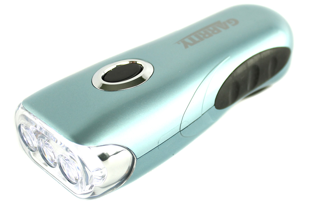 GARRITYLIGHT�Garrity K023G 3 Led Super Bright Crank Rechargeable Flashlight