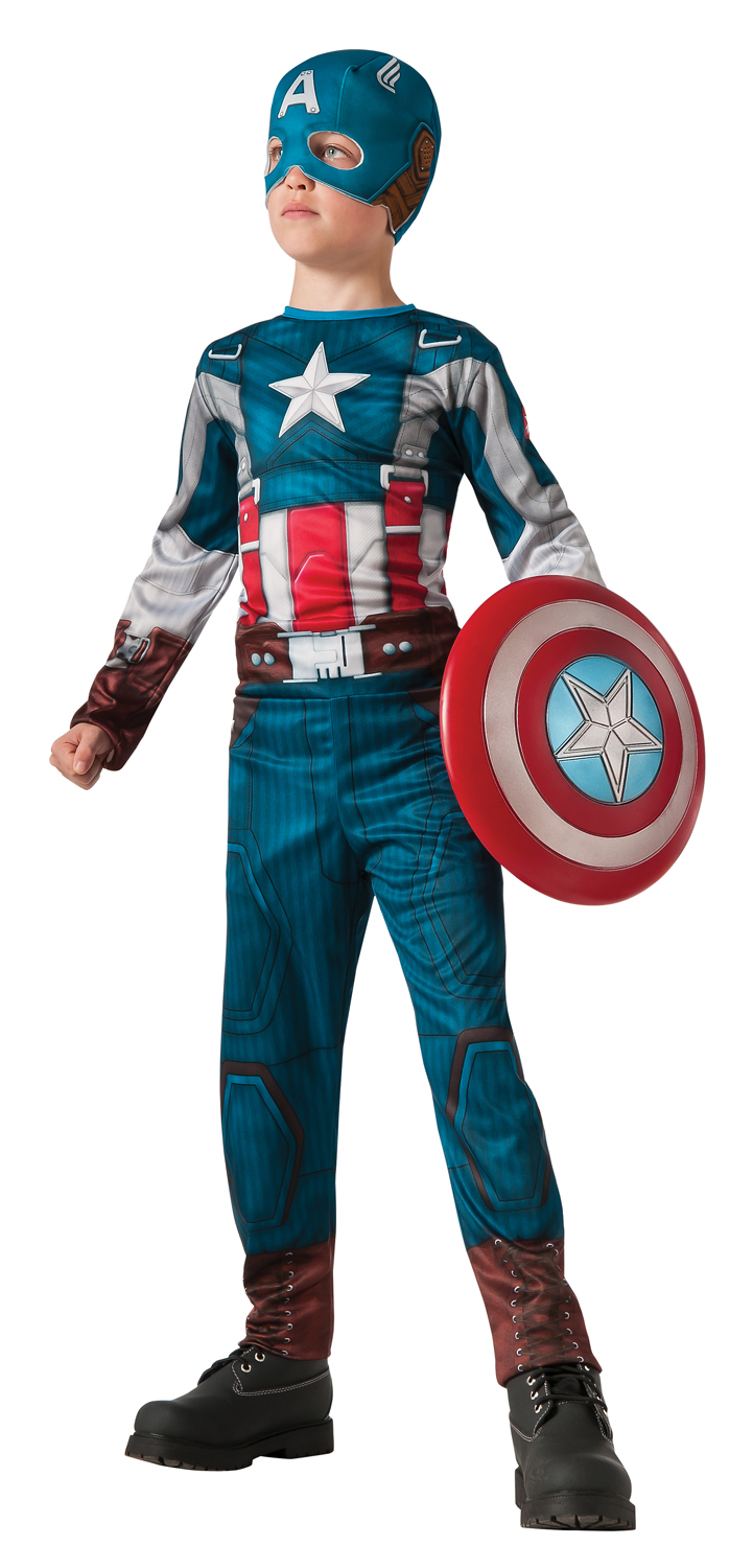Captain America Retro Kids Costume - Large