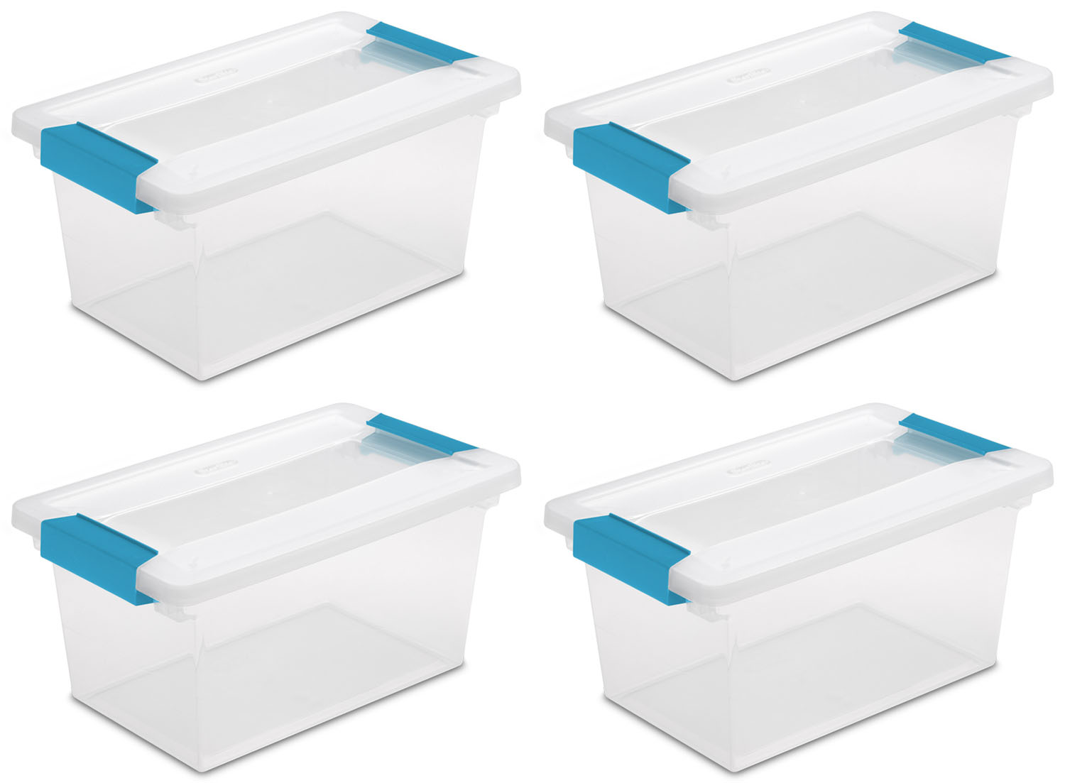 Sterilite Medium Clip Box (4 Pack) | 19628604