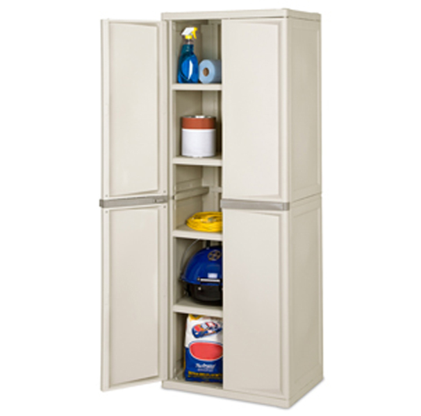 01428501�Sterilite Heavy Duty 4 Shelf Cabinet | 01428501