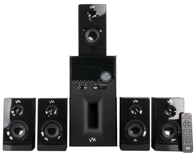 VM Audio 5.1 Multi Media Surround Sound System | EXMS581B (Piano Black)