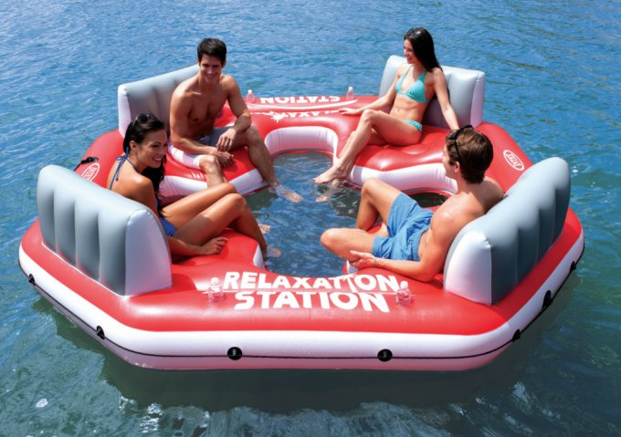 Intex Relaxation Station 4-Person Water Lounge Raft | 58296Q
