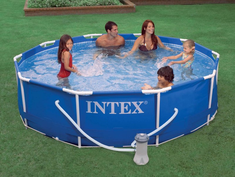 "Intex 10' x 30"" Metal Frame Set Pool w/ 530 GPH Pump 