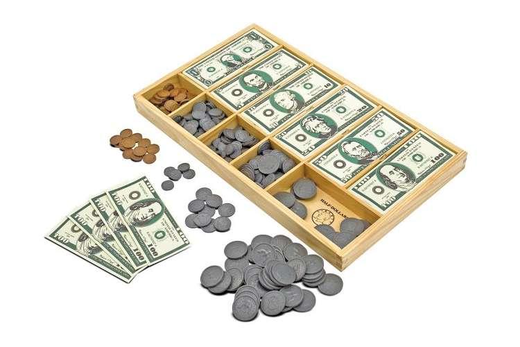 1273�Melissa & Doug Play Cash Drawer Money Set | 1273