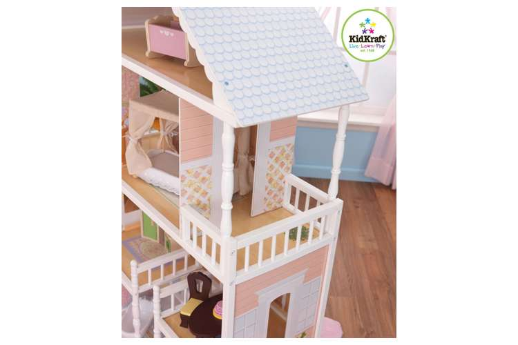 65023�KidKraft Savannah Wooden Play Dollhouse