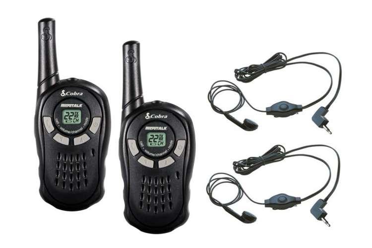 CX110 + 2 x GA-EBM2�(2) Cobra CX110 Walkie Talkie 2-Way Radios + (2) Earbud/Mic Sets