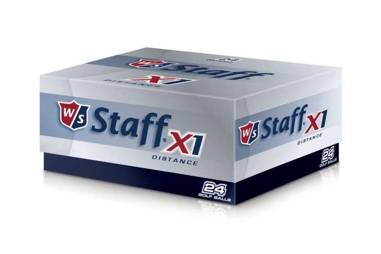 X1-BALLS�Wilson Staff X1 2 Dozen - 24 Pack Distance Golf Balls