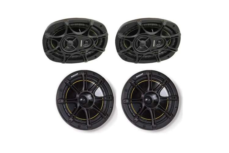"11DS693 + 11DS65�KICKER DS693 6x9"" 280W 3-Way Car Speakers (Pair) + DS65 6.5"" 2-Way Speakers (Pair)"
